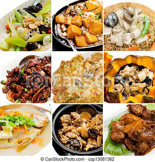mat, kollektion, kinesisk, asiat - csp13081362