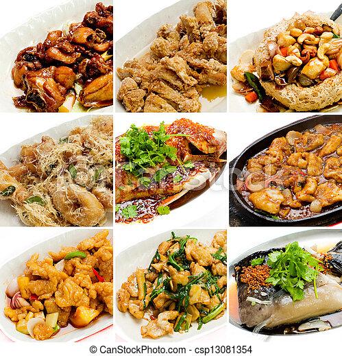 mat, kollektion, kinesisk, asiat - csp13081354