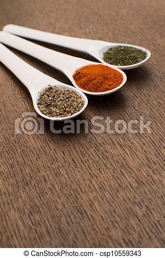 mat, olika, kollektion, ingredie - csp10559343