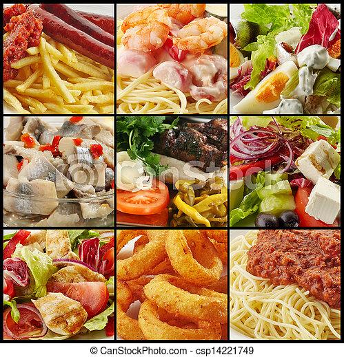 mat, olika, kollektion - csp14221749