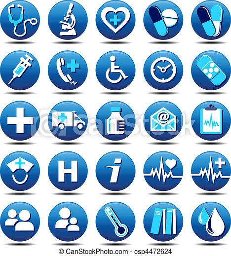 mat, soin, santé, icônes - csp4472624