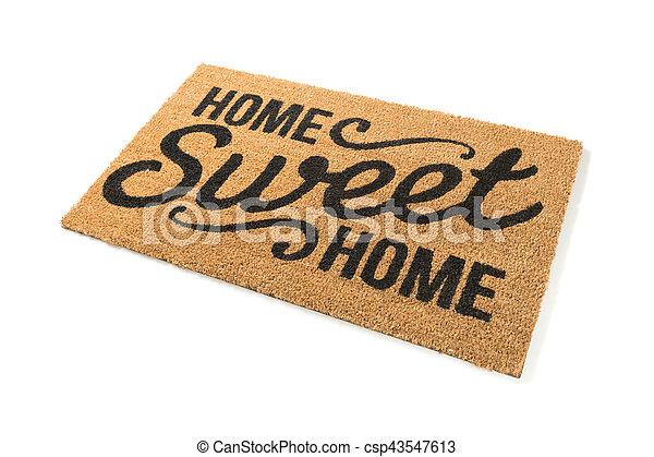 mat, zoet, welkom, vrijstaand, thuis, witte  - csp43547613