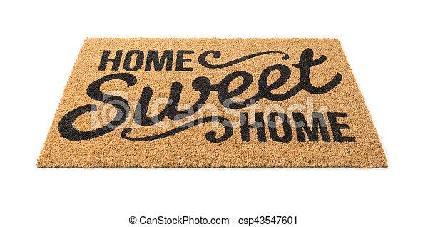 mat, zoet, welkom, vrijstaand, thuis, witte  - csp43547601