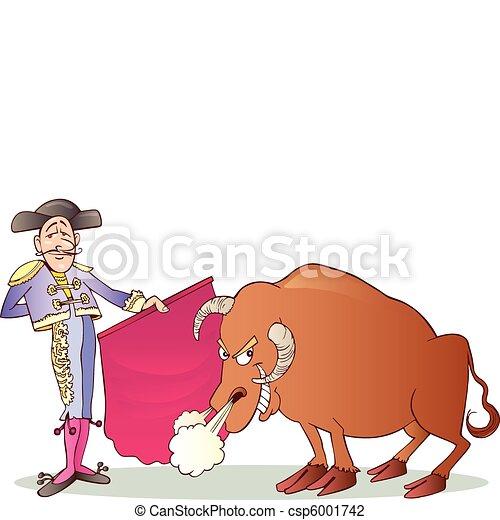 Matador and Bull - csp6001742
