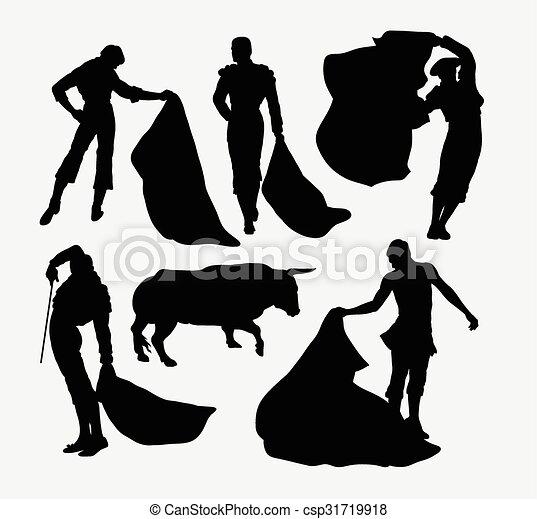 Matador sport silhouettes - csp31719918