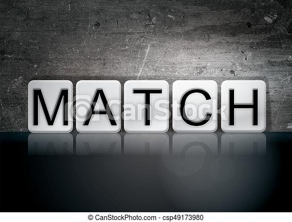 Match Concept Tiled Word - csp49173980