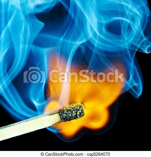 Match flame and smoke - csp5264070