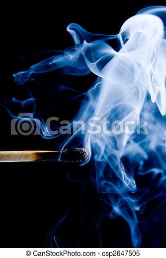 match smoke on a black - csp2647505