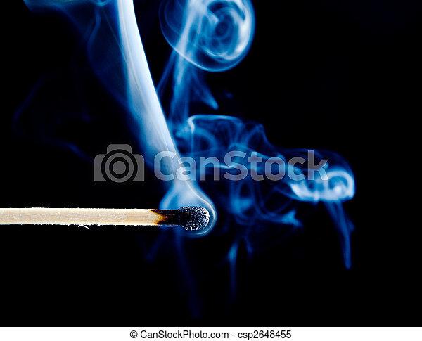 match smoke on a black - csp2648455
