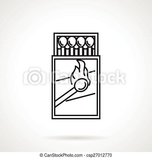 Matchbox black line vector icon - csp27012770