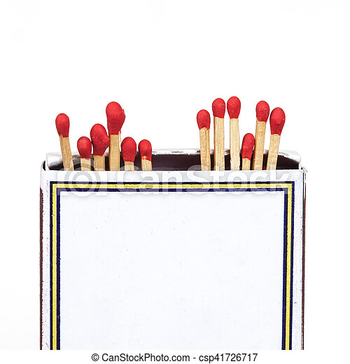 Matchsticks and box on isolated background - csp41726717