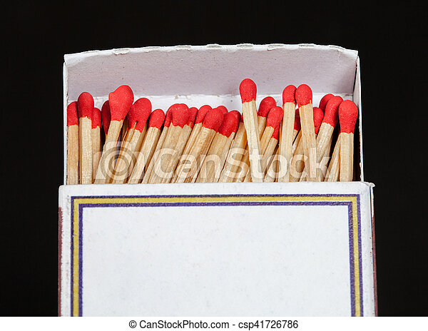 Matchsticks and box on isolated background - csp41726786