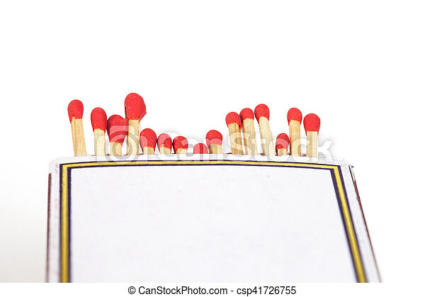 Matchsticks and box on isolated background - csp41726755