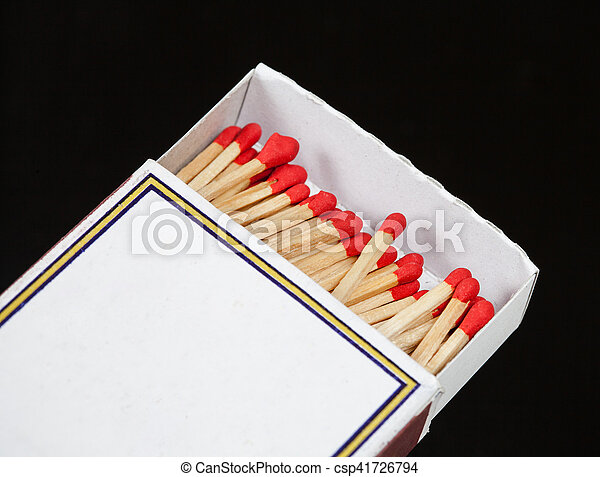 Matchsticks and box on isolated background - csp41726794