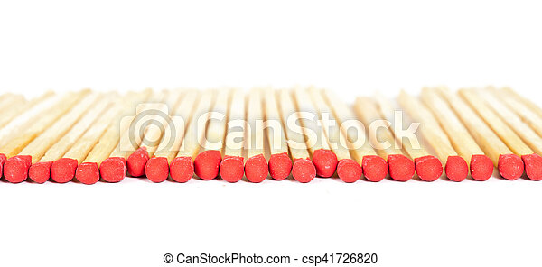 Matchsticks on isolated background - csp41726820