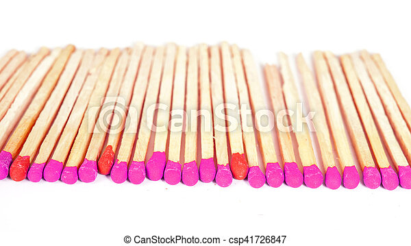 Matchsticks on isolated background - csp41726847