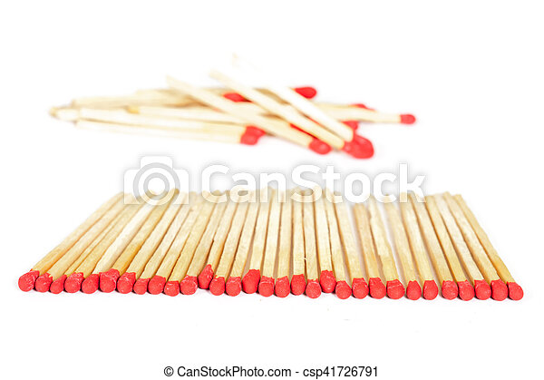 Matchsticks on isolated background - csp41726791