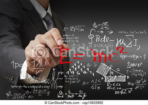 Matemáticas y fórmula científica - csp10633892