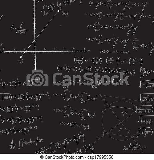Patrón matemático sin costura - csp17995356