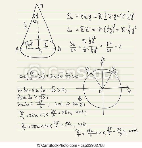 Matemático, patrón, vector, fórmulas. Matemático, campo, vector ...