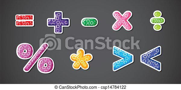 Diferentes signos y símbolos matemáticos - csp14784122