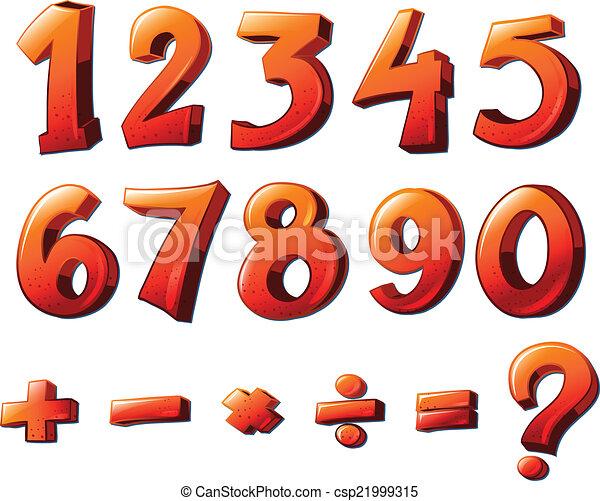 Números y símbolos matemáticos - csp21999315