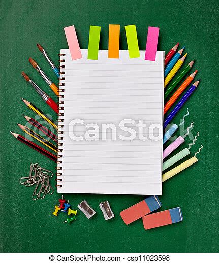 materiais, escola, educação, itens - csp11023598