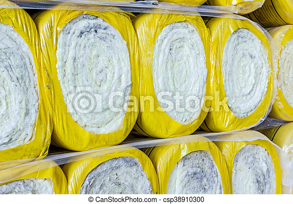 El material de aislamiento térmico en rollo está envuelto con papel de celofán - csp38910300