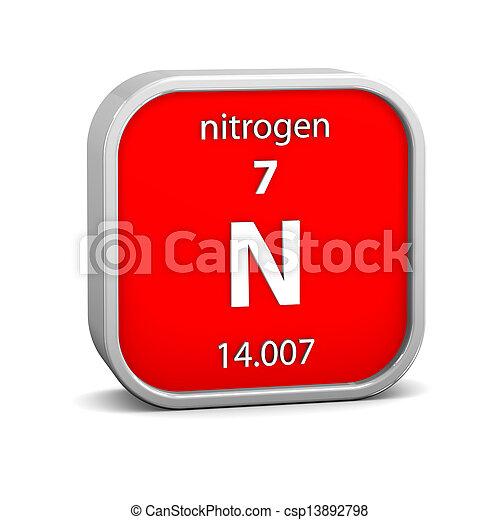 material, nitrogênio, sinal - csp13892798