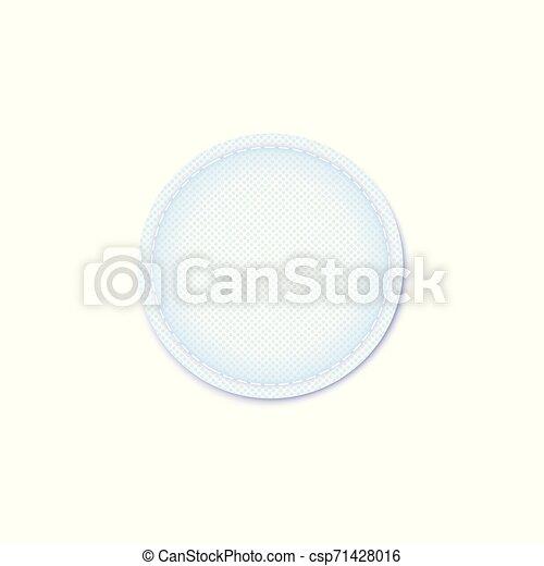 La plataforma de higiene de los cosméticos absorbe el vector de bordes del material interno. - csp71428016