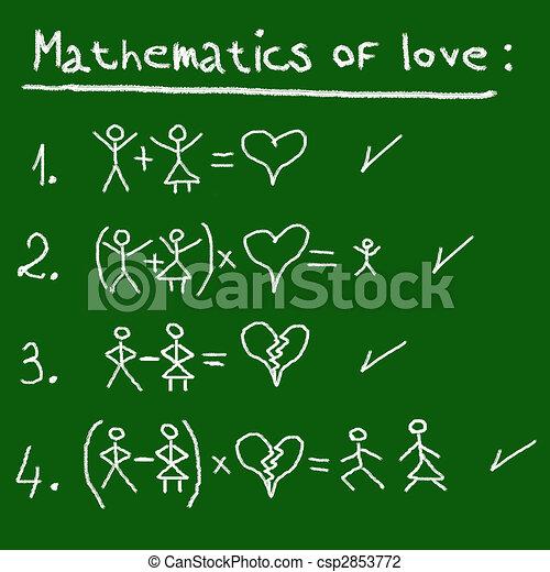 mathématiques, amour - csp2853772