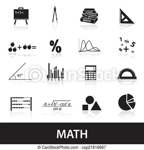 mathématiques, ensemble, eps10, icônes - csp21816667