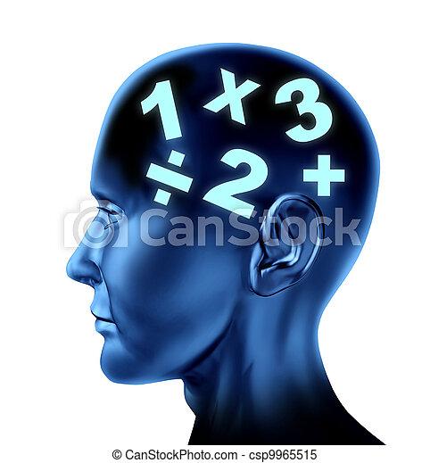 Math Brain - csp9965515