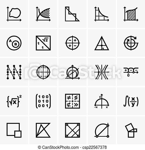 math, icônes - csp22567378