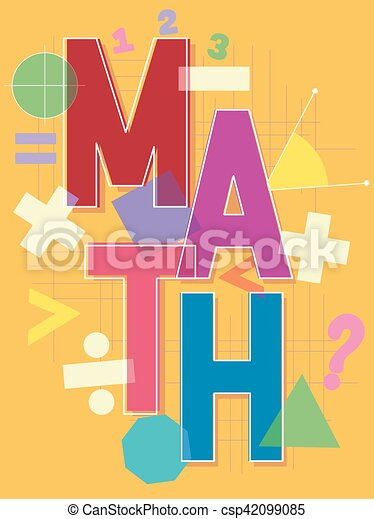 Math Lettering Design Typographical Illustration Featuring The Word