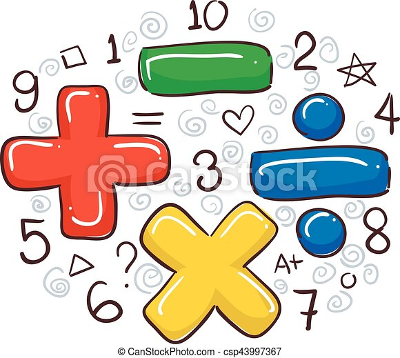 vector illustration of math symbols and numbers clip art vector rh canstockphoto com free clipart numbers black and white free clip art numbers in circles