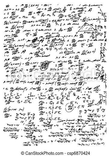 math symbols and texts - csp6870424