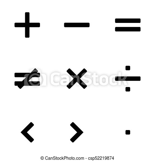 Math symbols vector - csp52219874