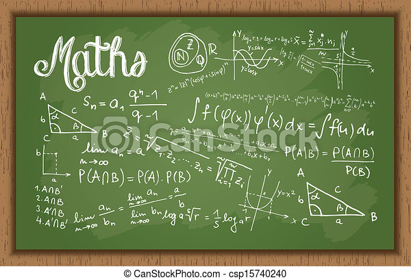 Schultafel mit kreide clipart  Vektor Illustration von tafel, calculation., mathe - illustration ...