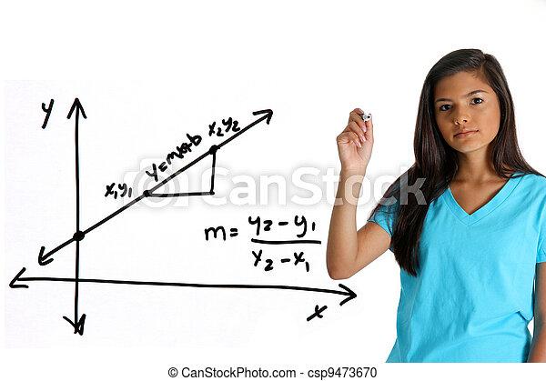 Mathestudent - csp9473670