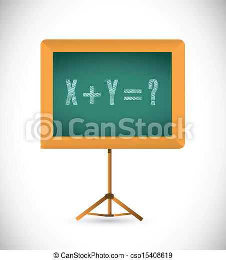 mathematical equation on a chalkboard illustration design vector rh canstockphoto com chalkboard clipart free chalkboard clipart free download