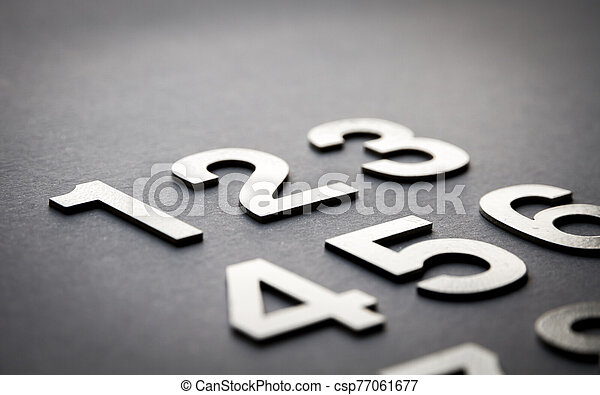 Mathematics background made with solid numbers - csp77061677