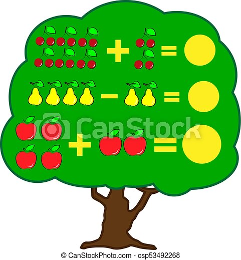 mathematics educational game for children learning clip art rh canstockphoto com subtraction clipart subtraction clipart