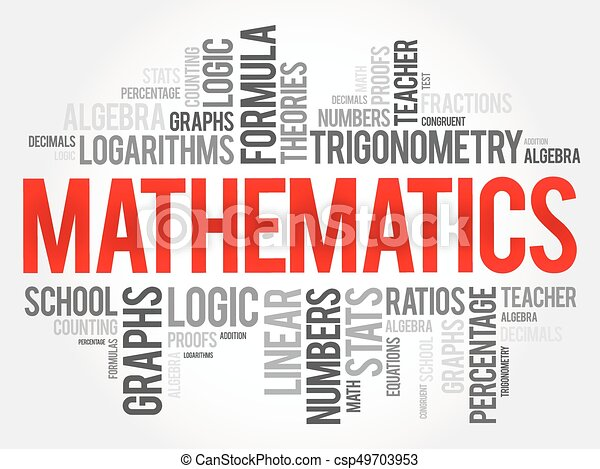 mathematics word cloud collage education concept background