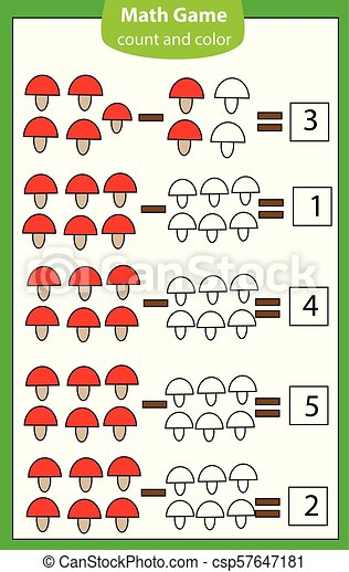 Mathematics worksheet. educational game for children. Learning counting.  subtraction for kids and toddlers