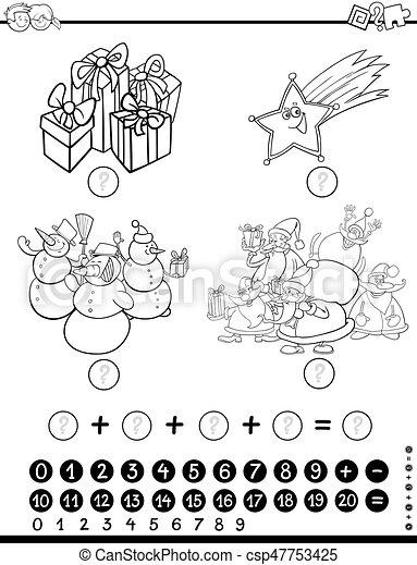 Mathematisch, färbung, aktivität. Mathematisch,... Vektor ...