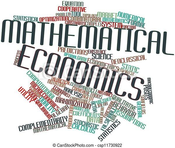 mathematisch, volkswirtschaft - csp11730922