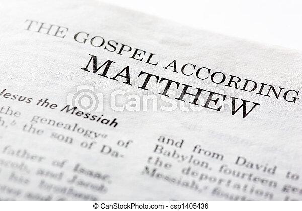 mathew, vangelo - csp1405436