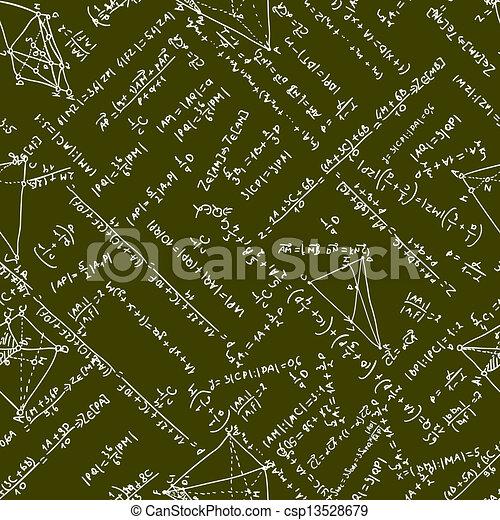 Maths seamless pattern. EPS 8 - csp13528679