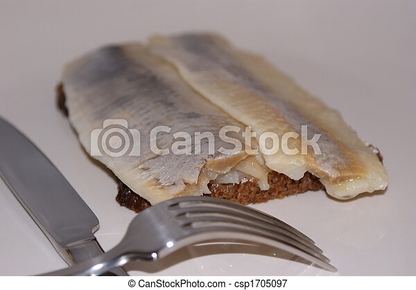 matie, a young herring on a slice bread - csp1705097